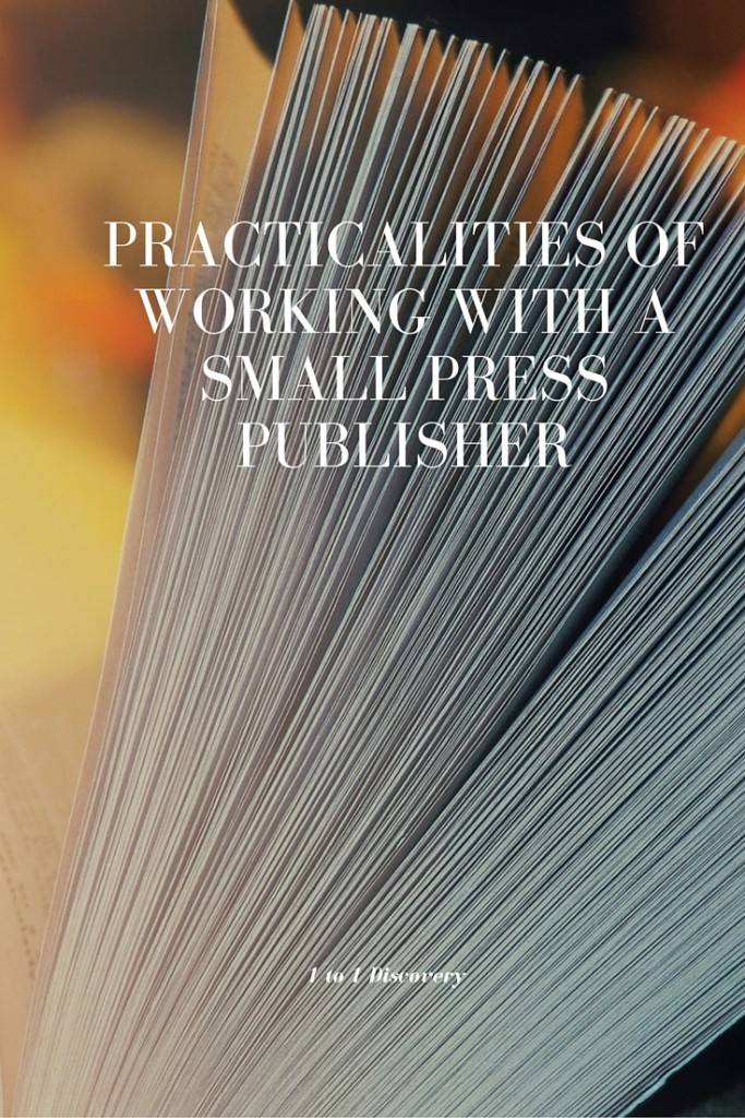 Practicalities of Working with a Small Press Publisher (1)