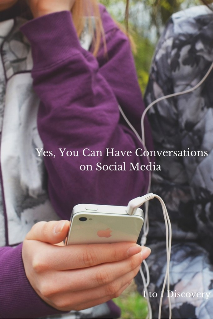 Yes, You Can Have Conversations on Social Media